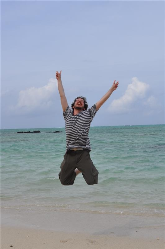 Jumping in Deer Island (L'ile aux Cerf)