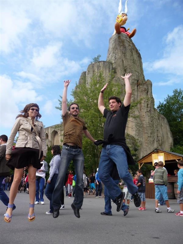 Jumping in le Parc Astérix (one year later)