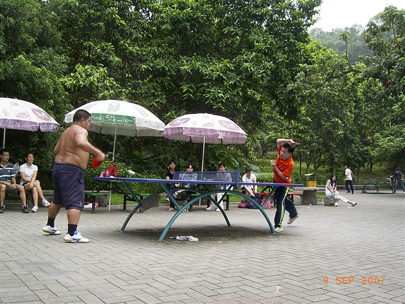 In the park - ping pong