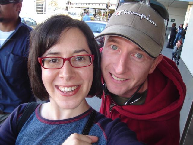 The happy couple leave Tullamarine
