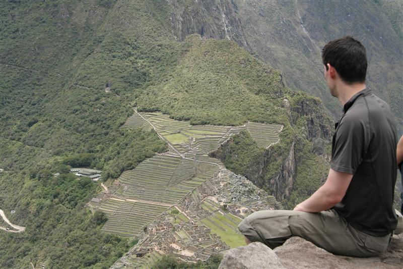 Machu pichu viewed from Wayna pichu