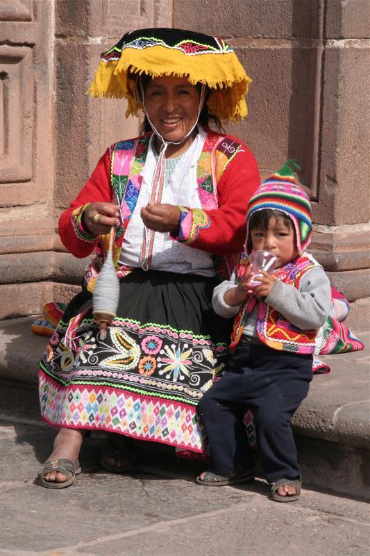 Typical peruvian costume
