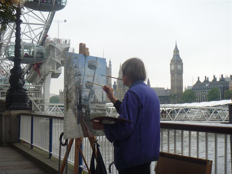 An amazing artist, Southbank