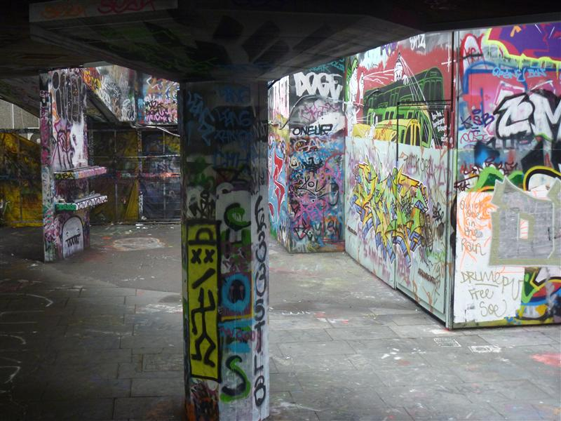 Skateboard area, Southbank
