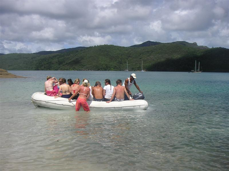 Dingy to take us to and from shore
