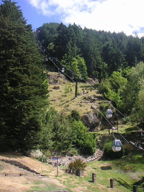 Gondola up t'hill