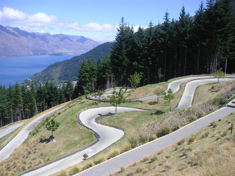 The Luge - great fun way to spend our first day in Queenstown, and cool views too