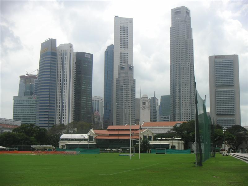 Singapore skyscrapers, yet still find room for a rugby pitch