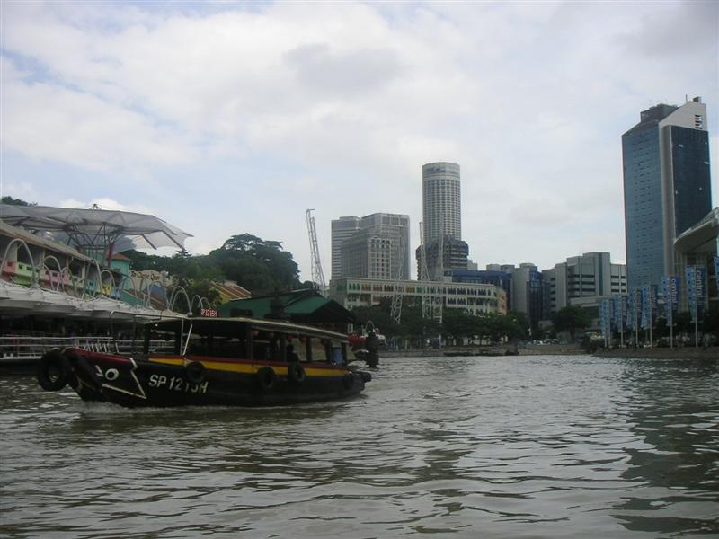Bumboat trip along Singapore River