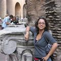 being dorky in the colosseum