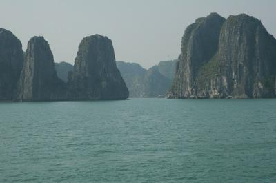 Clear day on Halong Bay