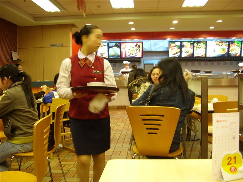 A waitress of a Chinese restaurant