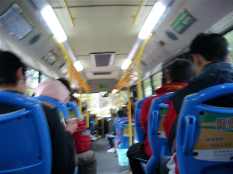 Sitting in the bus # 106