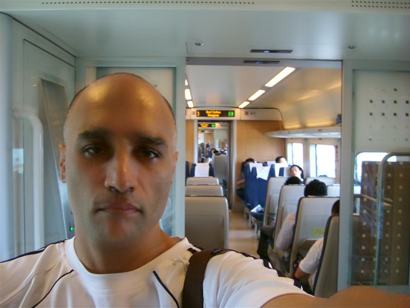 Inside the train going to Shilong city 30 minutes to SZ !