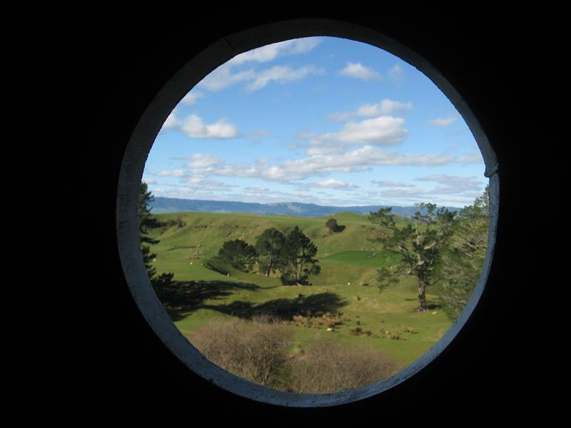 The view through a window in Bag End