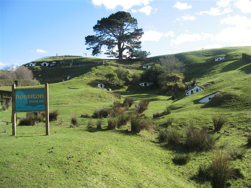 The remains of the Hobbiton set