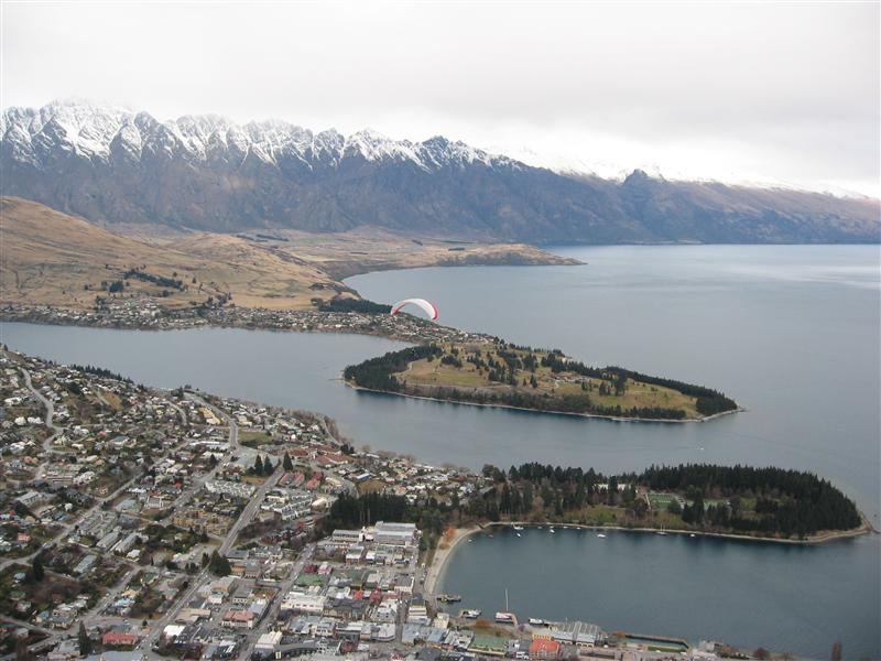 Queenstown from the top of the gondola