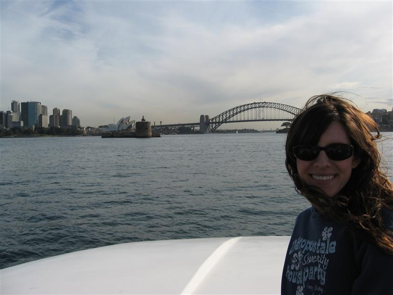 Ang in Sydney Harbour