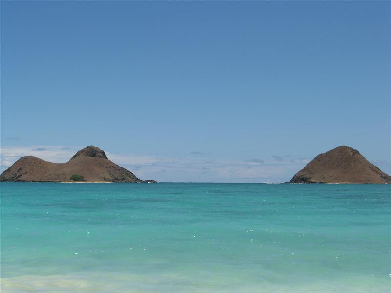 We kayaked to these islands just off the coast from Kailua