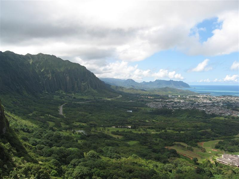 View out over the south-west coast of Oahu