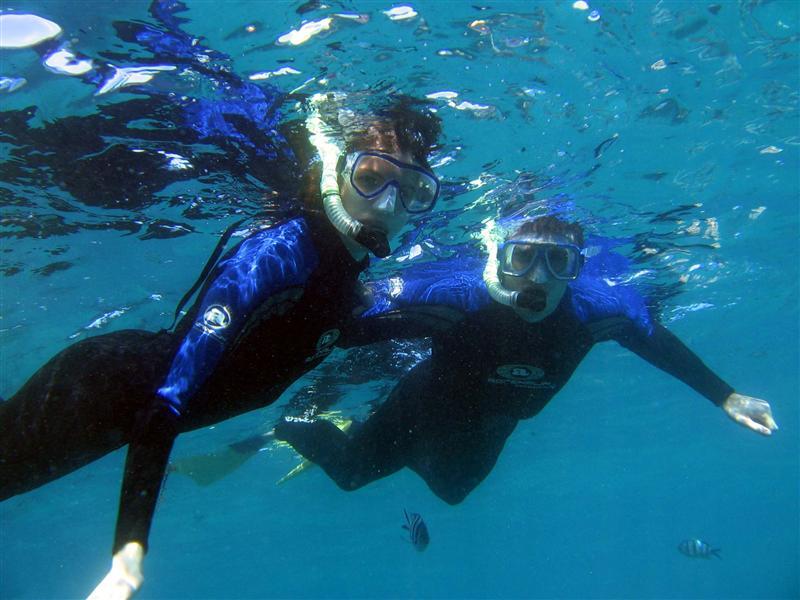 Snorkeling like true adventurers