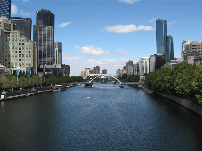 The Yarra - which runs through the centre of Melbourne