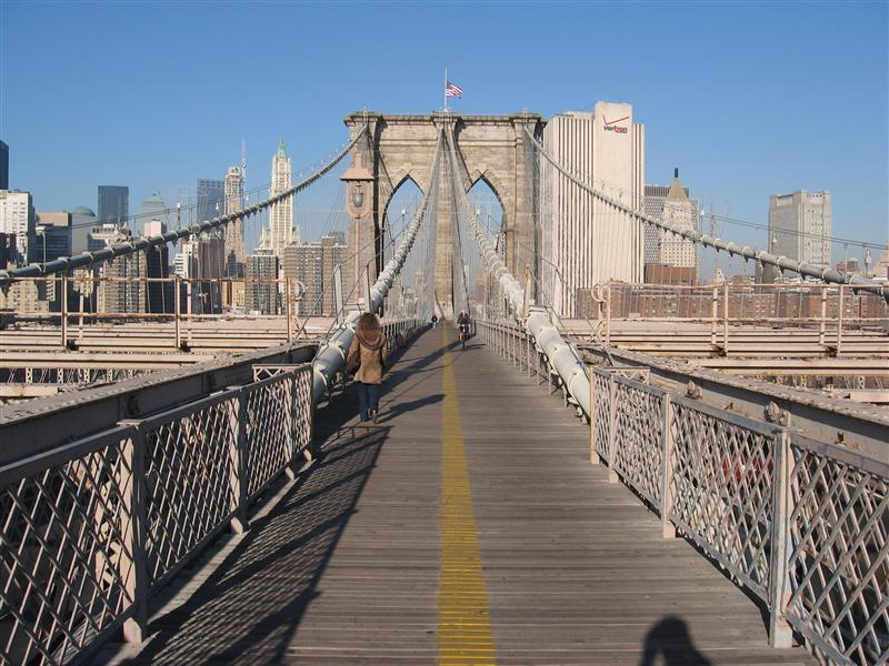 Brooklyn Bridge with Manhattan in the background
