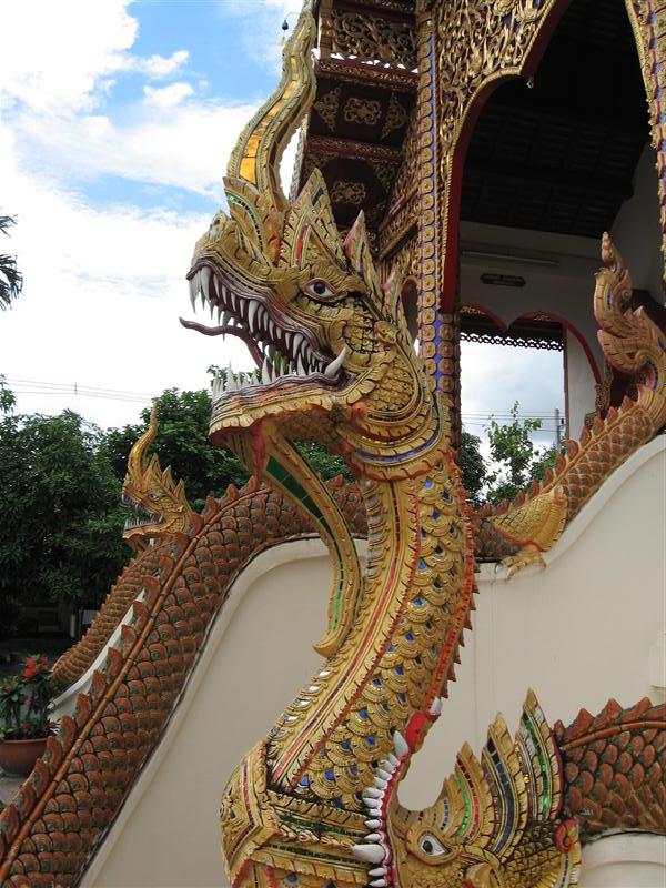 An actual dragon outside a temple