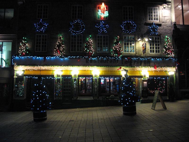 A festive restaurant