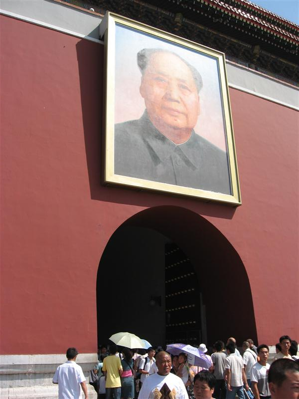 Mao, on the entrance to the Heavenly City