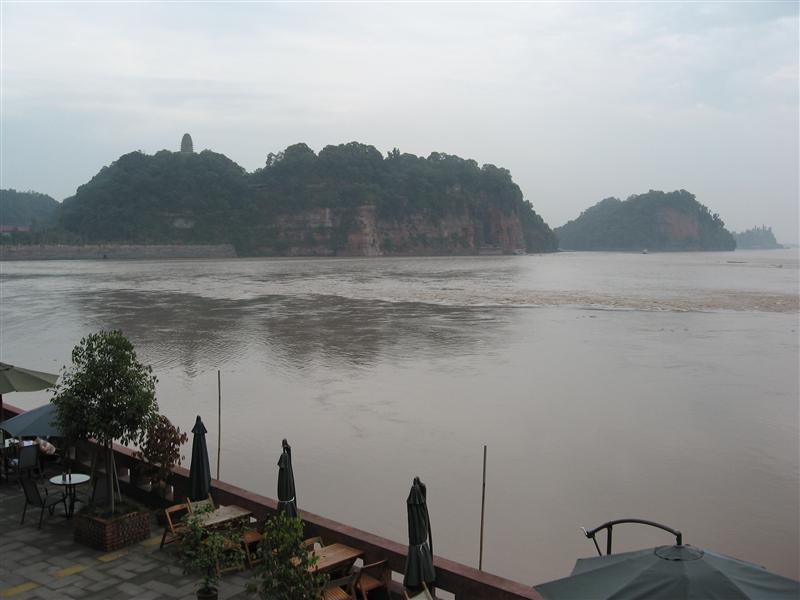 The Giant Buddha from across the river