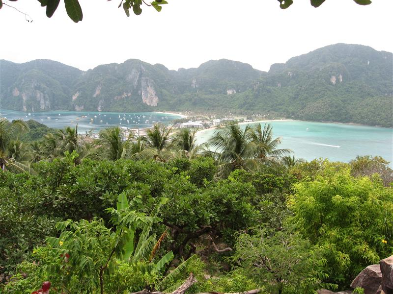 Phi Phi Island.  2 Bays and the town in the middle.