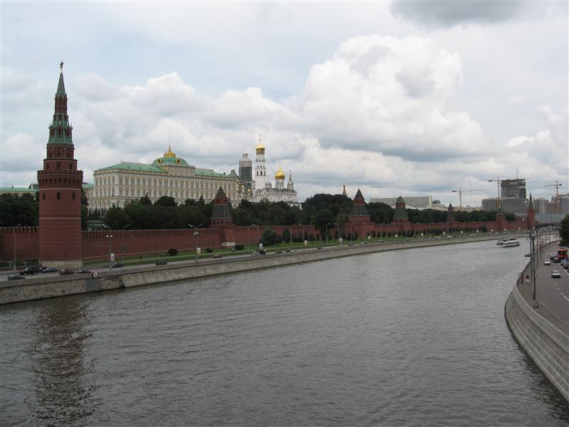A better view of the Kremlin wall by the river