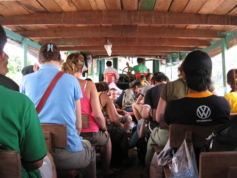 On the slow boat down the Mekong