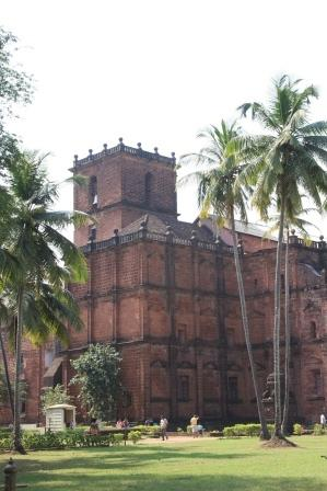 Kirchen in Old Goa der alten portugiesischen Hauptstadt