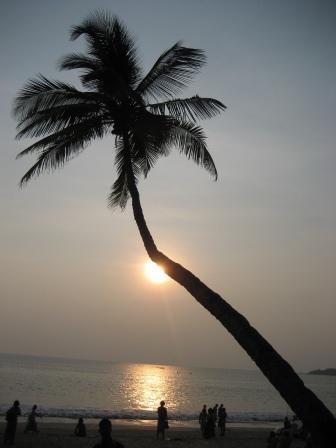 Sonnenuntergang am Strand in Palolem