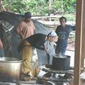 Participant preparing ayahuasca