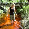 Bathing in the red river prior to ayahuasca ceremonies