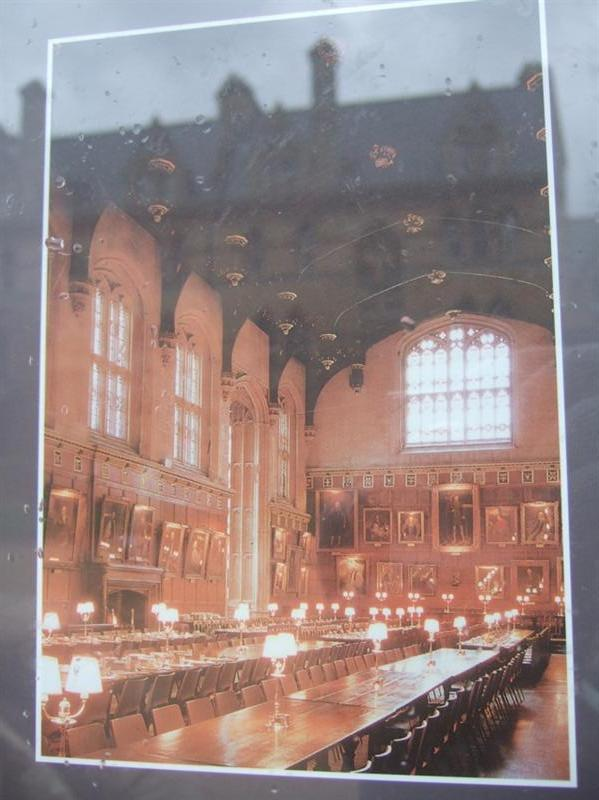 Dining Hall @ Christ Church - we REALLY wanted to see this!!