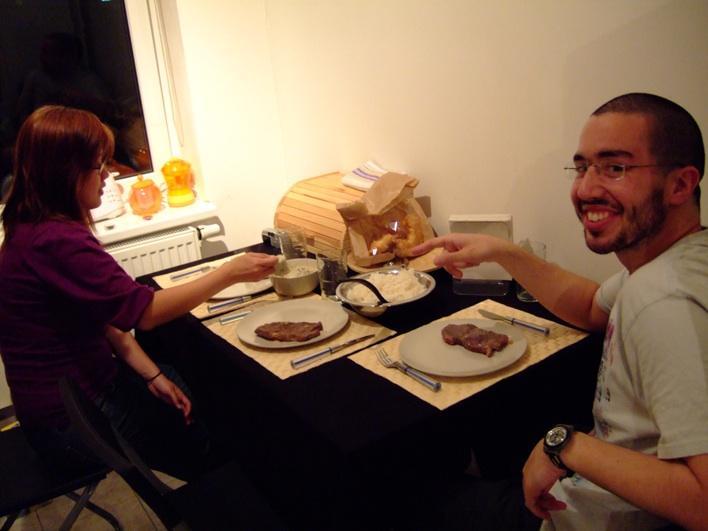 Mig made dinner - steaks