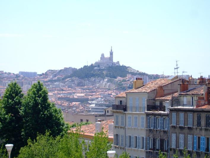 Notre-Dame-de-la-Garde, view from train station