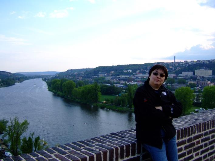 the Vltava River - taken from Vys?ehrad lookout