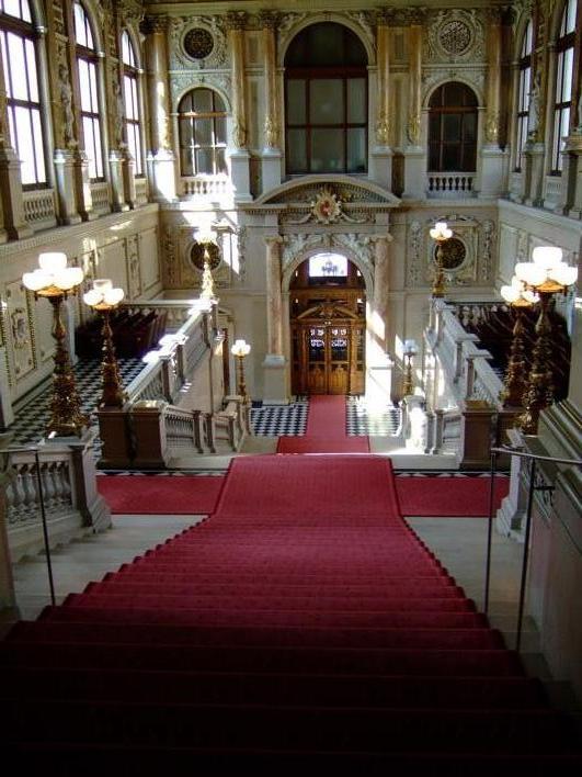 a hall inside Burgtheatre