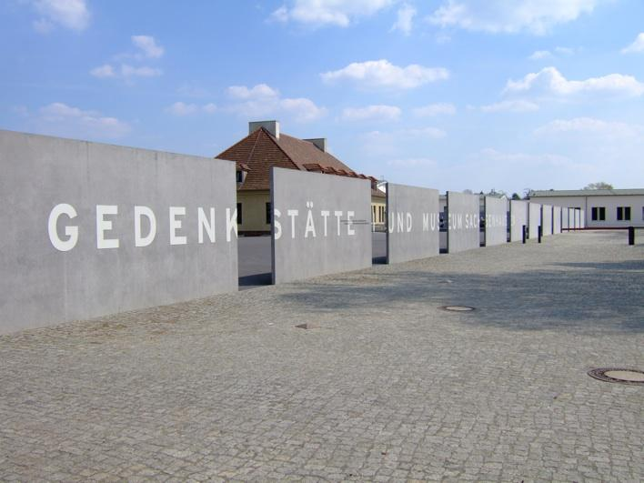 entrance to Sachsenhausen - Nazi's concerntration camp