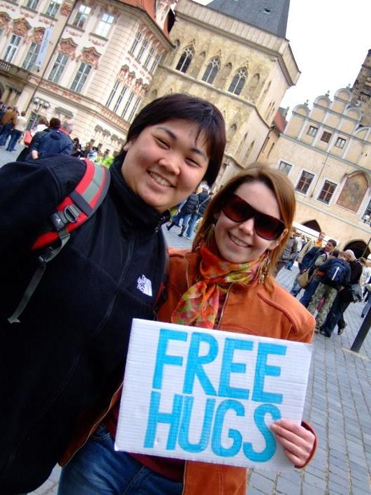 i took part in the Free Hug Campaign in Prague!!!