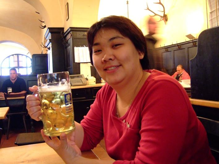having a 1 litre radler (beer & sprite/7up) at a beerhouse