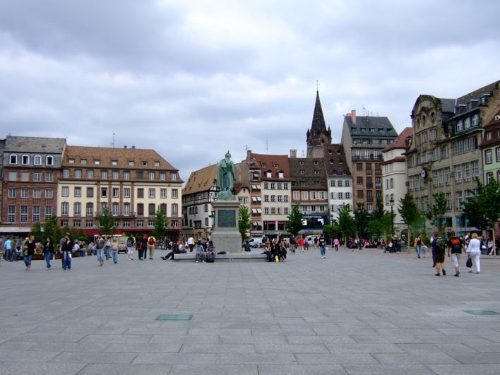 main sq in Strasboug