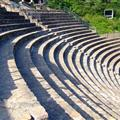 seats at The Roman-era Theatre on the Fourvie`re Hill