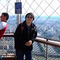 at the top of Effiel Tower
