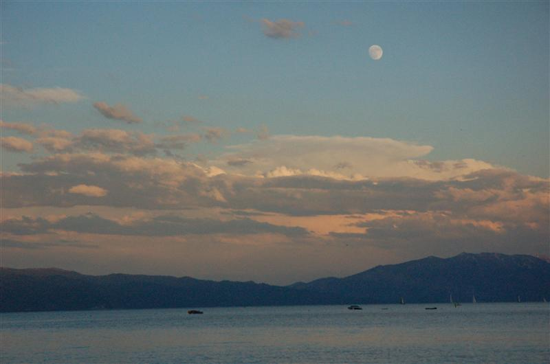 Rising Moon over Lake Tahoe